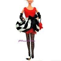 Vintage Barbie Fashion Red Black and White Outfit Net Stockings Bag NO DOLL