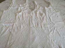 3 Stück Bekleidungs Paket gr.S/M Damen Unterhemden, Weiß, Top