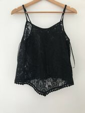 Ladies Top Size 10 Atmosphere Black New Strappy <JJ1853