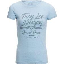 Troy Lee Designs Womens Widow Maker Crew T-Shirt Blue Size SMALL