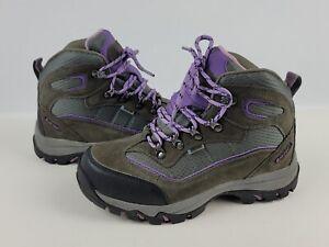 Hi tech Dri tech Waterproof Hiking Snow Boots Women's Grey Violet Size 7M EUC