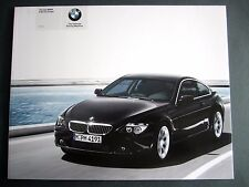 BMW 645i - ORIGINAL UK FULL BROCHURE 2003 (E63) Coupe 6 Series