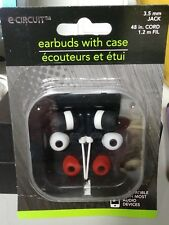e-circuit Earbuds/ Case/Black/White/ Black / extra ear pieces Andriod & iPhone