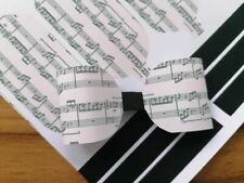 x8 musical notes sheet bow fabric ready to cut hair bow making canvas  a4 sheet