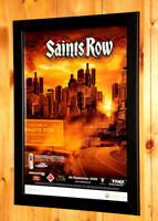 2006 Saints Row video game Rare Small Poster / Old Ad Page Framed Xbox 360 THQ