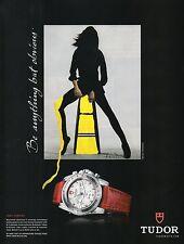 Publicité Advertising 2008  montre TUDOR lady chrono