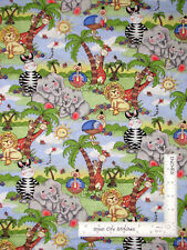 Bazooples Bazopple Animals Allover Cotton Fabric Springs CP27640 By The Yard
