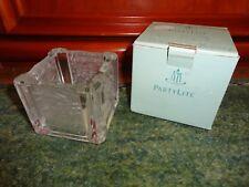 PartyLite Teelicht-, Vo-Halter, Chrysantheme, Bleikristall, mit OVP, dickes Glas