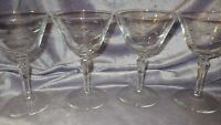vintage Champagne Glasses  in Windswept by Libbey - Rock Sharpe 4 8 oz stems