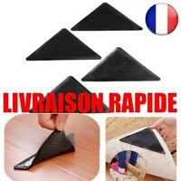 4 pcs Réutilisable Lavable Tapis Pinces Antidérapante Silicone Maison Salon Bain