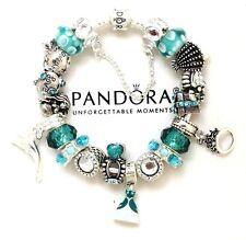 Pandora Bracelet Silver  Disney Princess Ariel Mermaid European Charms