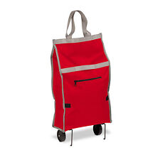 Rolling Fabric Fold up bag cart in Red # CRT-05386 by Honey Can Do