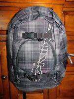 Dakine Black Plaid Laptop Backpack Brand New