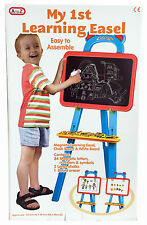 Childrens Kids 1st Learning Easel Stand Chalkboard Magnetic White Board NEW