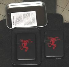 Pair of STAR-I LIGHTERS Black with RED DEVIL DESIGN - 1 New in Box - 1 Used