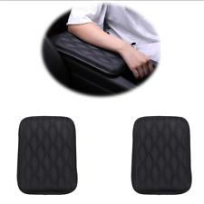 Universal Auto Center Console PU Leather Cushion Black Car SUV Armrest Pad Cover
