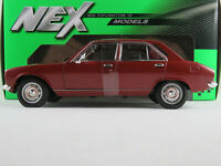 Welly 24001W Peugeot 504 Limousine (1975-1977) in weinrot 1:24 NEU/OVP