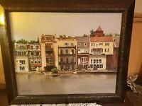 Vintage Painting Skaneateles Lake New York Artist Signed Mid Century Modern Art