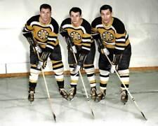 The Uke Line - Vic Stasiuk, Bronco Horvath & Johnny Bucyk COLORIZED 8X10 PHOTO
