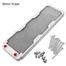 """Aluminium 360mm 18Tube G1/4"""" Wärme Radiator Austauscher für PC CPU Wasserkühlung"""