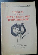 L'oiseau revue française d'Ornithologie n°1 - 1936 Avifaune Noirmoutier etc ...
