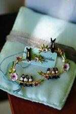 Les Nereides Sparrow Feding Babies on Branch Earrings