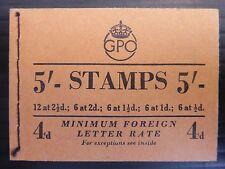 GB 1953 de septiembre Wilding 5/Folleto-SGH3 mixtas reina NB2968