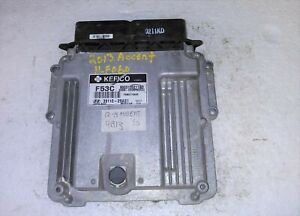 2012-2013 Hyundai Accent ecm ecu computer 39110-2BAS1