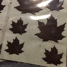 (1) package of 6 Darice Rustic Accents Rusted Shapes Large & Small Maple Leaves