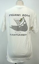 FIGAWI YACHT RACE 2014 WASHED NANTUCKET WHITE M T SHIRT S/S 100% COTTON MARTINI