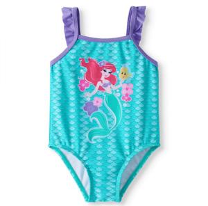 NEW Disney Princess Little Mermaid Ariel Baby Girl One Piece Swimsuit -Size 3-6M