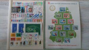 DDR Jahrgang 1964 postfrisch komplett mit Block 19