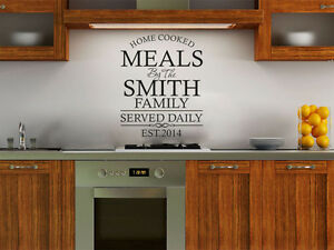 PERSONALISED Family, Kitchen Wall Quote, Wall Sticker, Decal, Modern Transfer