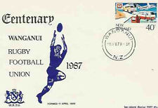 NEW ZEALAND 11.4.87 RUGBY COMMEMORATIVE COVER (WG) - Wanganui Centenary