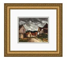 "FRAMED Maurice VLAMINCK 1958 Color Lithograph ""Le Village de Sarthe"" SIGNED COA"