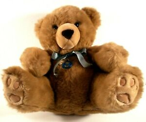 "Dakin Oscar Bear Pillow Soft Plush Stuffed 14"" tall Sitting 1986 Pawprint Feet"