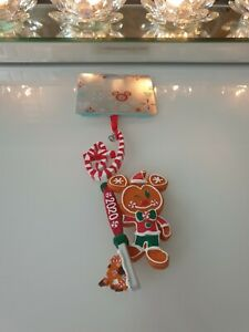 Disney Store Mickey Mouse Gingerbread Man Key Hanging Ornament 2020 NEW FREEPOST