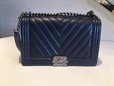 Chanel Medium Chevron Boy Bag - Authentic