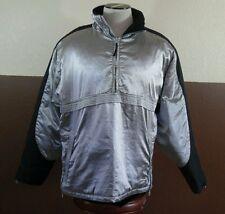 Versace Sport Silver Half Zip Pullover Hooded Jacket Sz 52