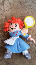 Raggedy Ann Rubber Figurine - Tennis - Bobbs Merrill - W Berrie