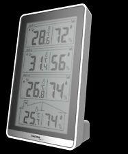 WS 7060 Thermometer Hygrometer Technoline inkl. 3 Sender Min/ Max Speicherung