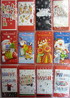 4 x Christmas 3D Glittery Money or Gift Card Wallets & Envelopes