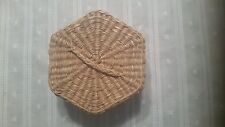 Indian Woven 6-Sided Basket with Lid