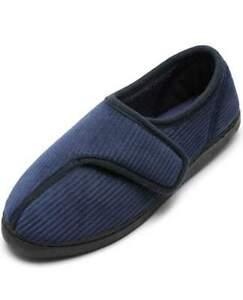 Git-up | Men's Diabetic Slippers Arthritis Edema Memory Foam | Size 14
