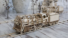 UGEARS TRAIN - Wooden Mechanical Train Assembly Moving Kit 3D Puzzle