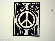 NOVELTY PEACE SEW/IRON ON PATCH:- MAKE LOVE NOT WAR CND PEACE