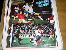 Angleterre/Danemark + Aston Villa & Notts FORÊT Tony Morley & Trevor Francis A4