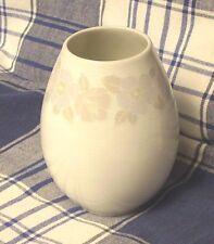 Arzberg 1 Vase, Tischvase, Blumenvase, Swingline, Rillendekor, bauchige Form