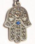 HAMSA Keychain Religious Charm Amulet Kabbalah Evil Eye English Traveler Prayer