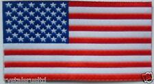 10 x Embroidery USA flag iron-on transfer patch applique art